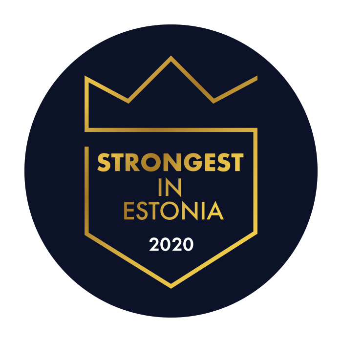 Stronger in Estonia label SimplBooks