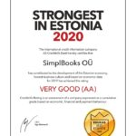 Strongest in Estonia 2020 SimplBooks accounting software