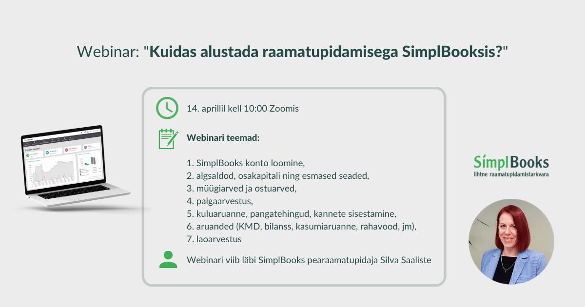 Kuidas alustada raamatupidamisega SimplBooksis